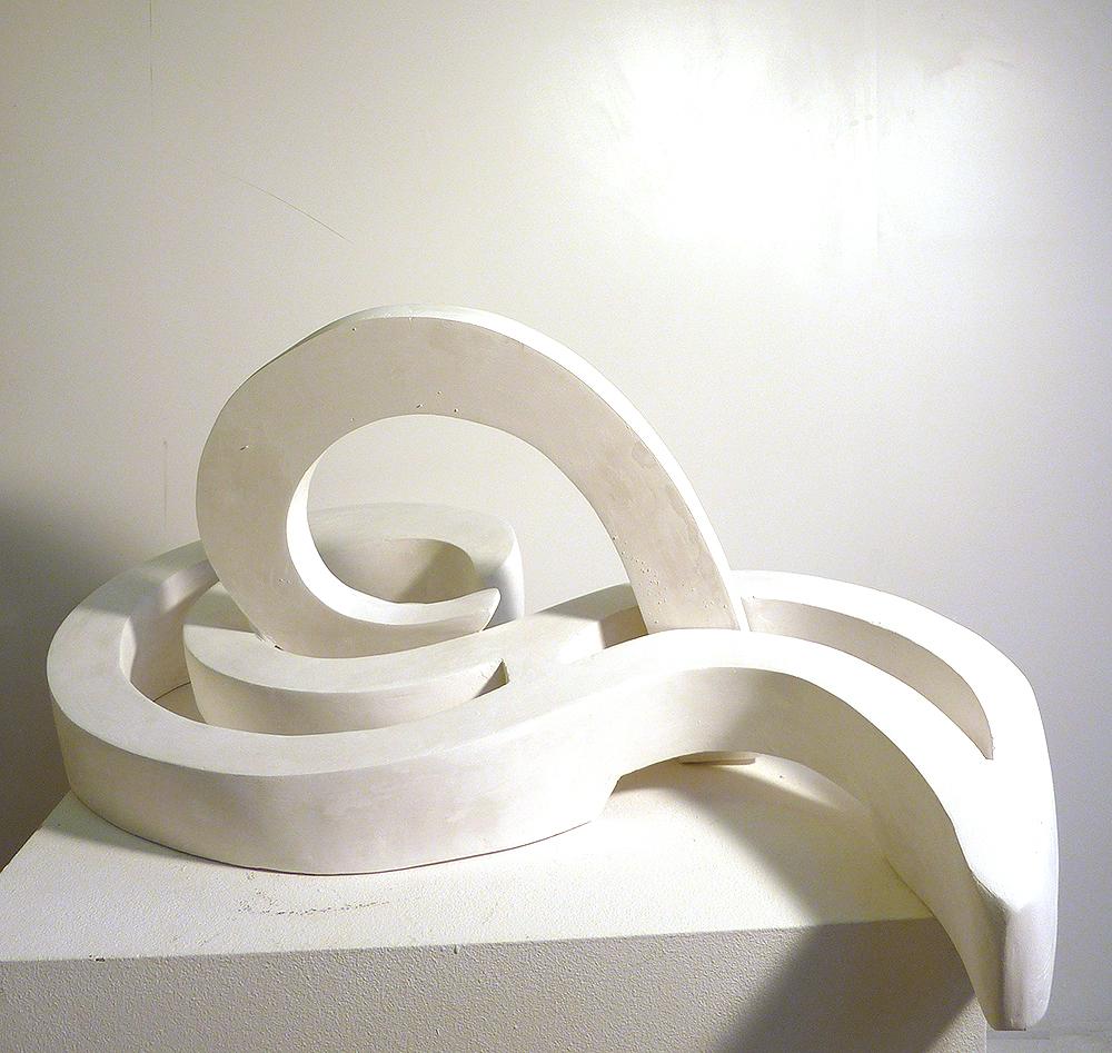 Wellenbewegungen Skulptur 8