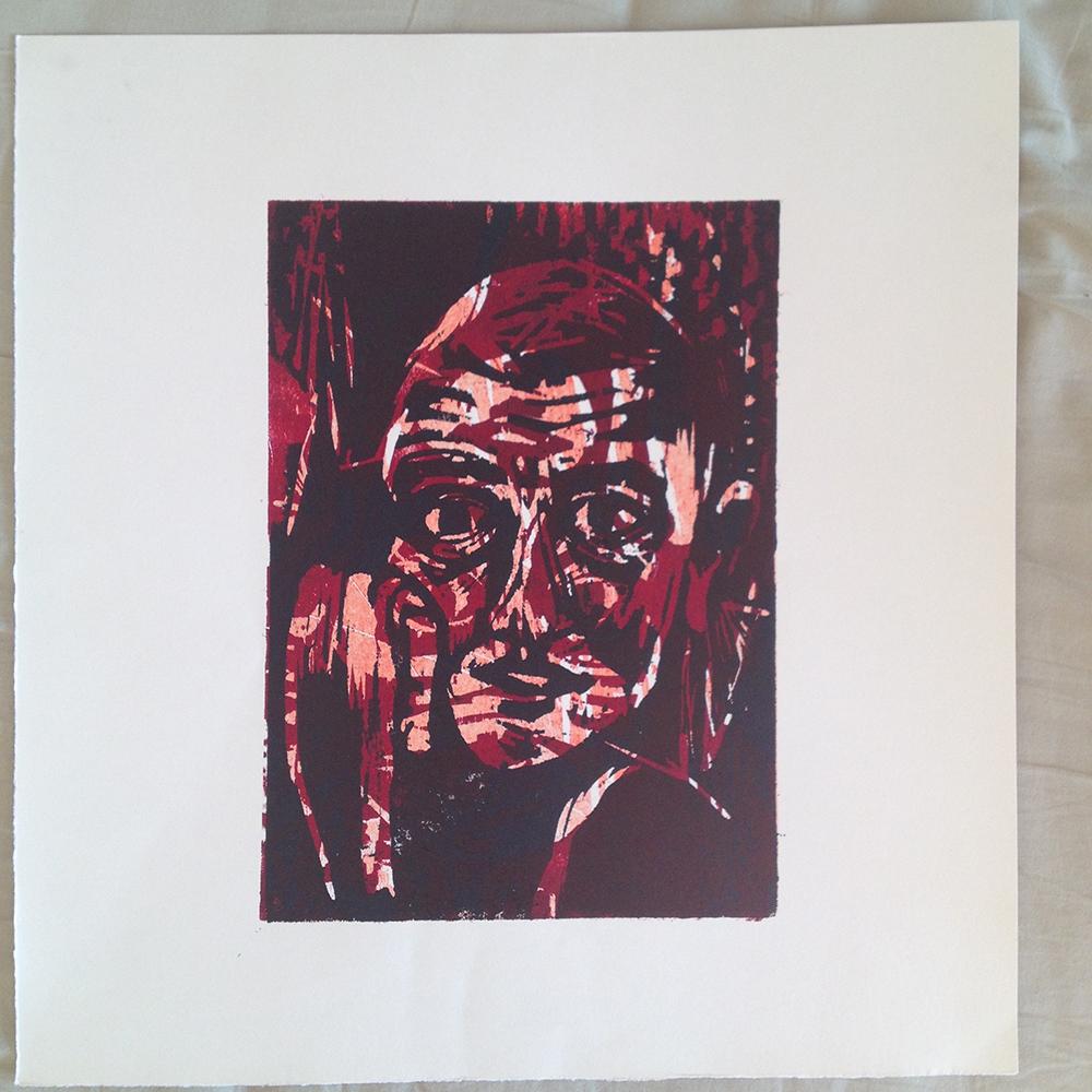 Bildreihe zum Thema Kopf, Druck 5. 2016, Sophie Bickmeyer