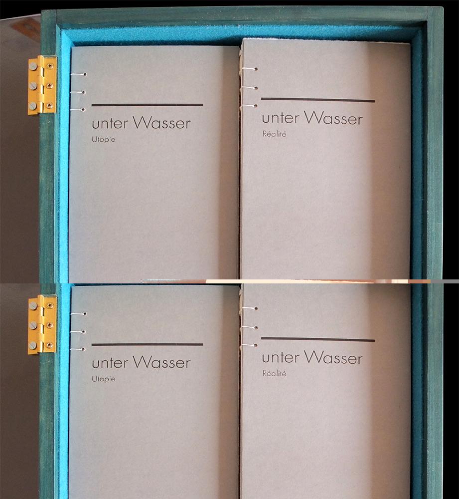 Unter Wasser: Utopie vs. Realité: Holzkassette. 2016