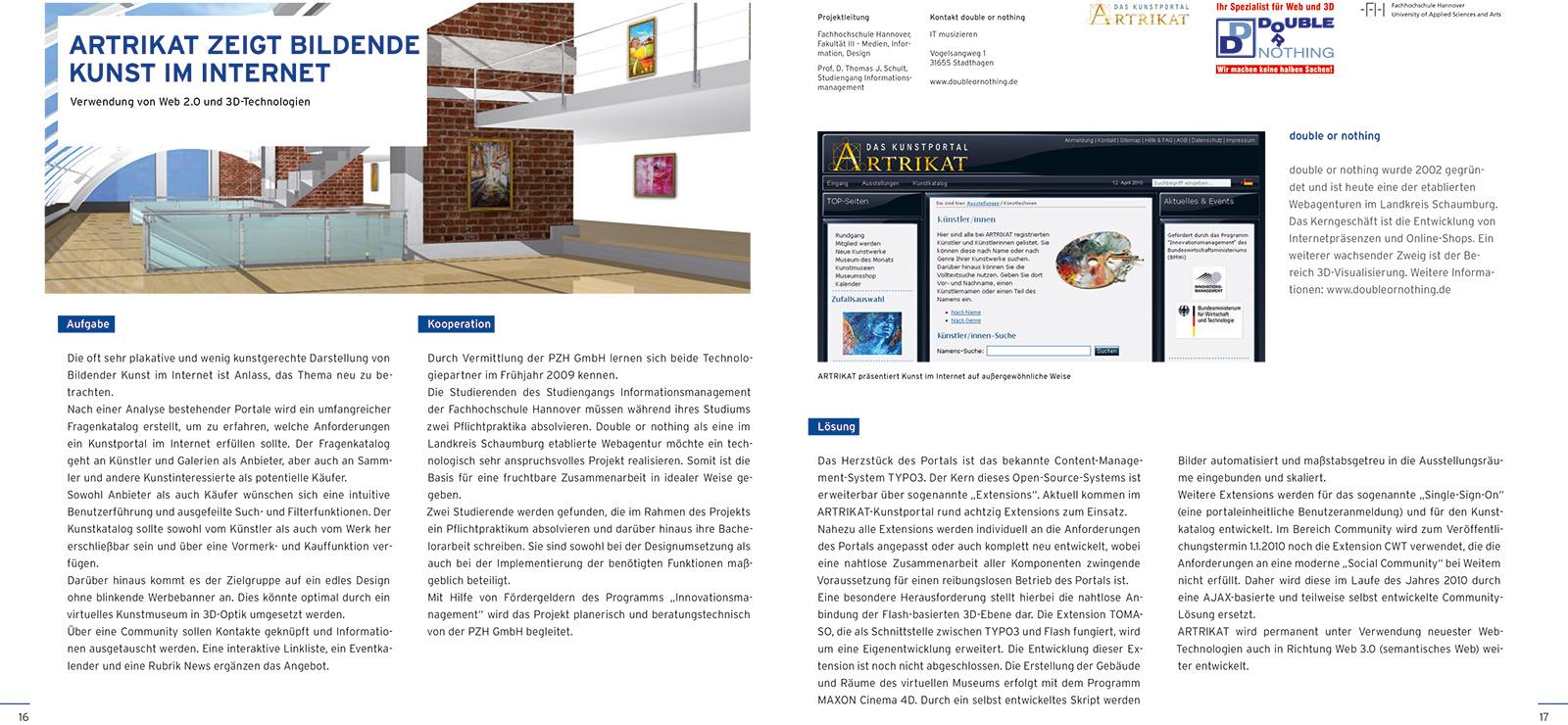 Die ARTRIKAT-Story: ARTRIKAT 1.0 - Gefördert durch das Programm Innovationsmanagement des BMWi