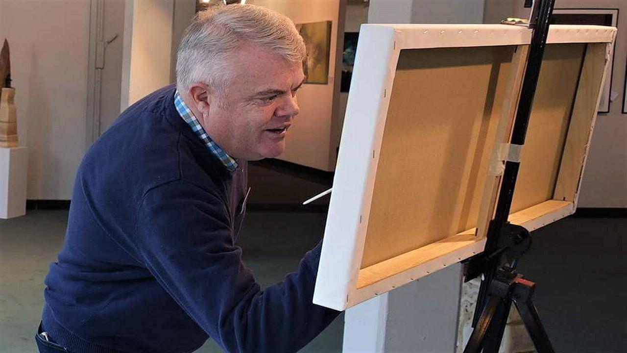 Michael Jordan - Ölmalerei - Finissage - Live-Painting