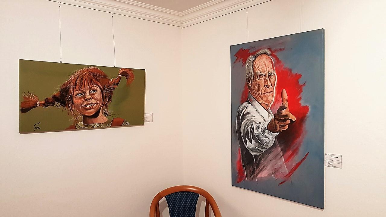 Wellensaeger, Peter Hesse - Portrait bis Karrikatur - Pippi Langstrumpf - Clint Eastwood