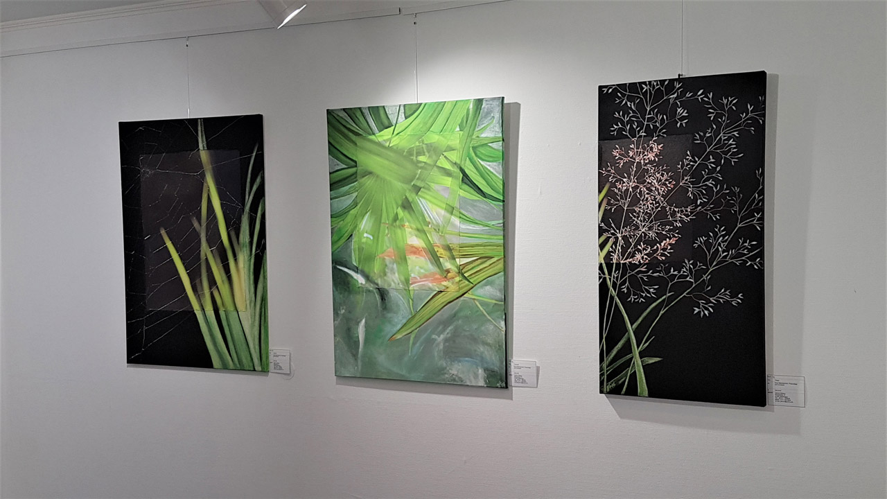 Janine Gilbeau - Collagen Foto / Malerei - Gras