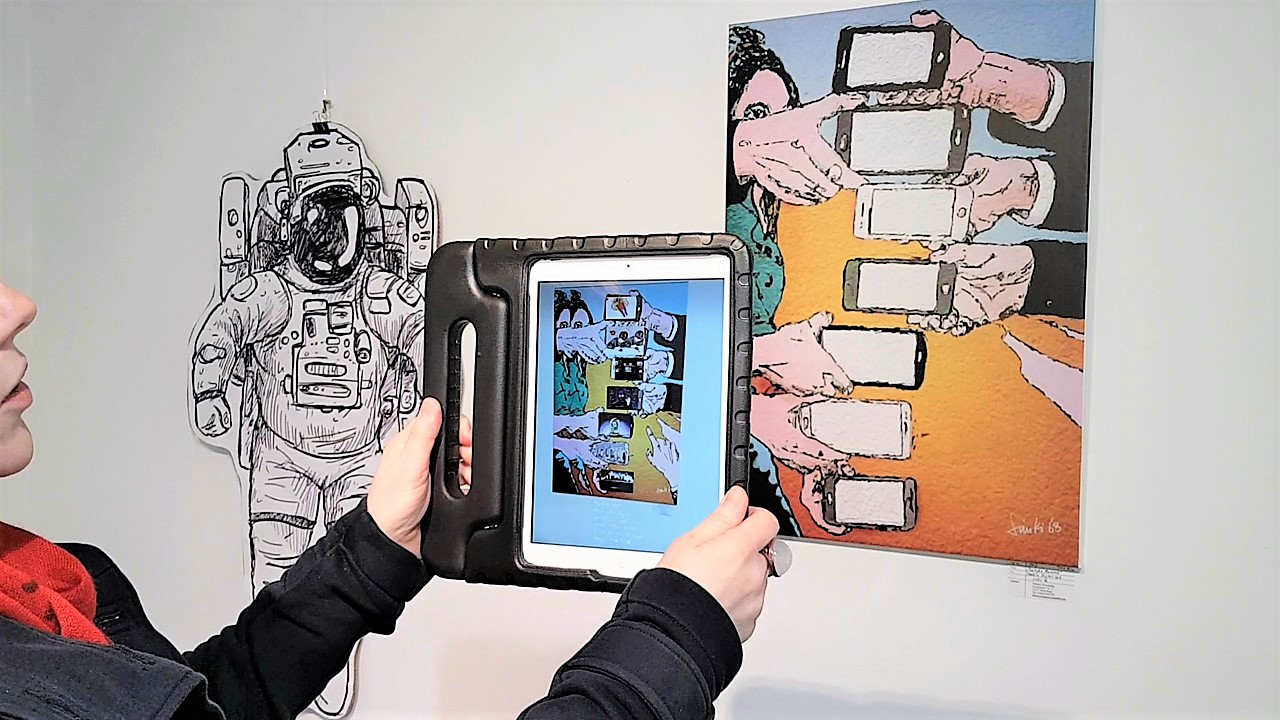 Simone Kirschning - Mobile Digital Art, Augmented Reality - Scan mit HP Reveal