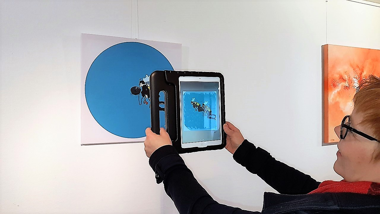Simone Kirschning - Mobile Digital Art, Augmented Reality - Taucher
