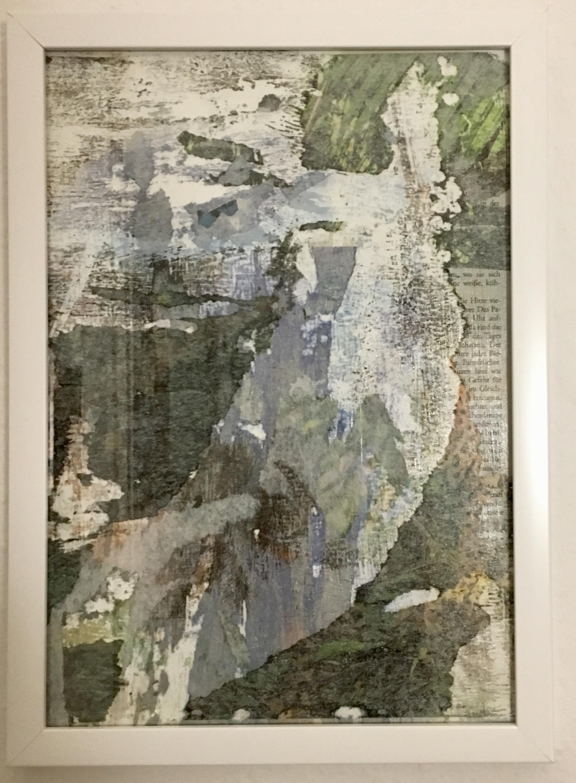 """Hannah Siefer """"Ist das Müll oder kann das Kunst? , Mischtechnik, 2017"""