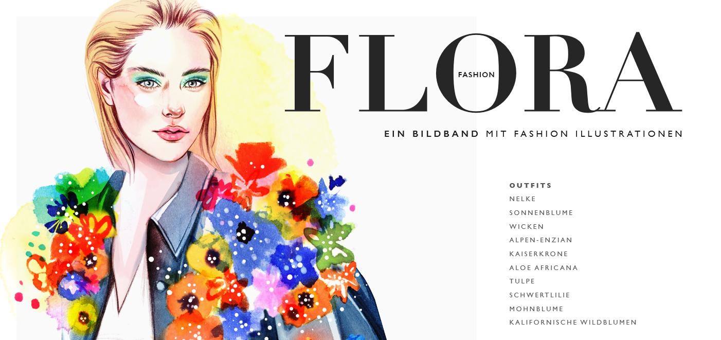 Inspirierende Blumen / Bildband mit Fashion Illustrationen von Designer